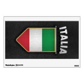 Italy Pennant with high quality leather look Wall Decal