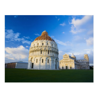 Italy, Pisa, Duomo, Leaning Towerand Field of Postcard