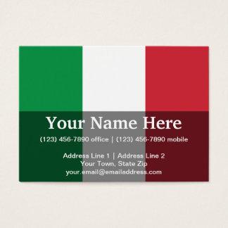 Italy Plain Flag Business Card