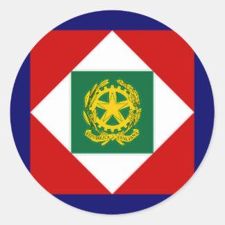 Italy President Flag Classic Round Sticker