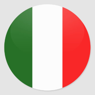 Italy quality Flag Circle Round Sticker