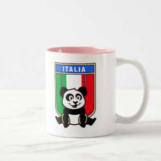 Italy Rings Panda Two-Tone Coffee Mug