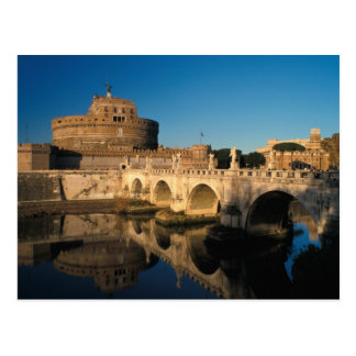 Italy, Rome, Castel Sant'Angelo and river Postcard