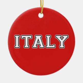 Italy Round Ceramic Ornament