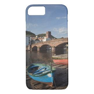 Italy, Sardinia, Bosa. Town view along Temo iPhone 7 Case