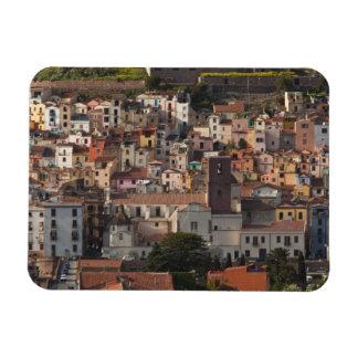 Italy, Sardinia, Bosa. Town view with Castello Magnet