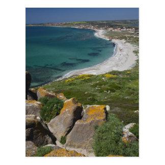 Italy, Sardinia, Tharros. View from the Spanish Postcard