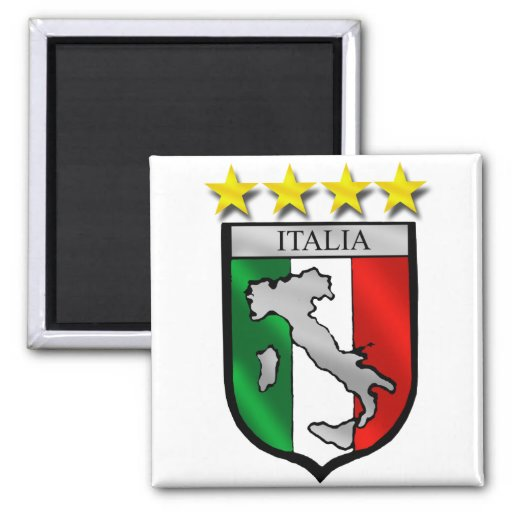 italy shield Italy flag italia map Square Magnet
