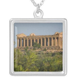 Italy, Sicily, Agrigento, La Valle dei Templi, 4 Silver Plated Necklace