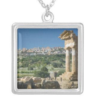 Italy, Sicily, Agrigento, La Valle dei Templi, Silver Plated Necklace