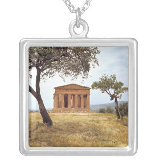 Italy, Sicily, Agrigento. The ruins of the 2 Silver Plated Necklace