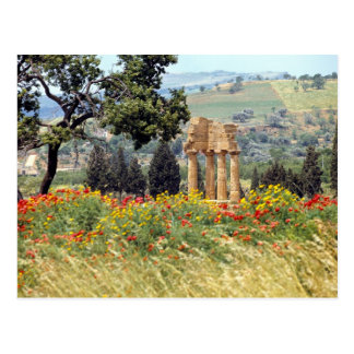 Italy, Sicily, Agrigento. The ruins of the Postcard