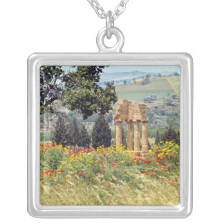 Italy, Sicily, Agrigento. The ruins of the Silver Plated Necklace