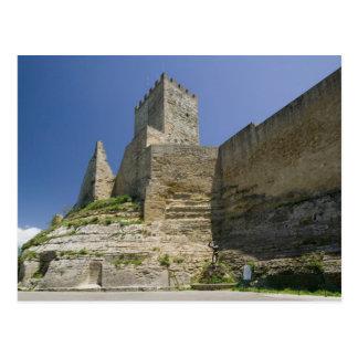 Italy, Sicily, Enna, Calascibetta, Castello di Postcard