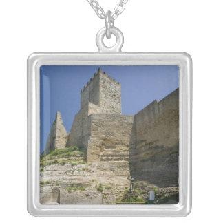 Italy, Sicily, Enna, Calascibetta, Castello di Silver Plated Necklace