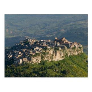 Italy, Sicily, Enna, Calascibetta, Morning View 2 Postcard