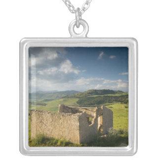 Italy, Sicily, Enna, Pergusa, Old Farmhouse Silver Plated Necklace