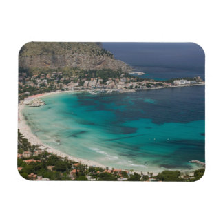 Italy, Sicily, Mondello, View of the beach from Magnet