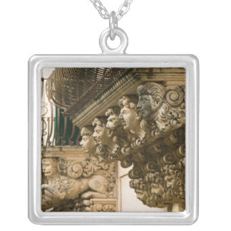 ITALY, Sicily, NOTO: Finest Baroque Town in Silver Plated Necklace