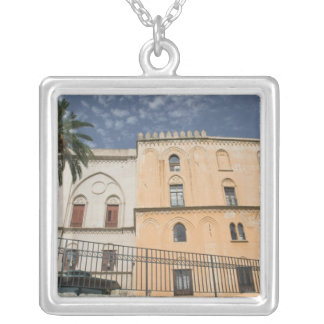 Italy, Sicily, Palermo, Palazzo dei Normanni Silver Plated Necklace