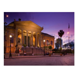 Italy, Sicily, Palermo, Teatro Massimo Opera Postcard
