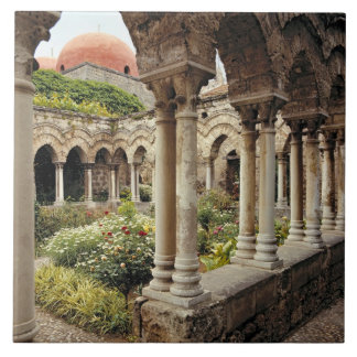 Italy, Sicily, Palermo. The cloisters survive as Tile