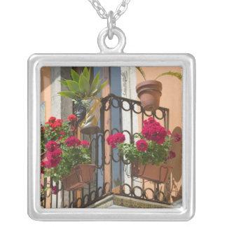 ITALY, Sicily, TAORMINA: Corso Umberto 1, Silver Plated Necklace