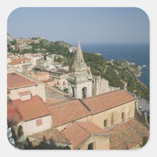 ITALY, Sicily, TAORMINA: View towards Piazza IX Square Sticker