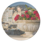 Italy, Sicily, Termini Imerese, View & Flowers Plate