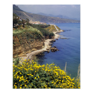 Italy, Sicily. The north coast of Sicily in Poster