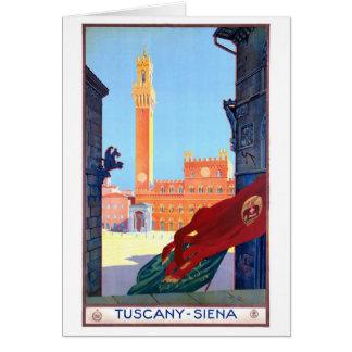 Italy Siena Vintage Travel Poster Restored Card