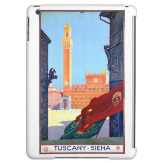 Italy Siena Vintage Travel Poster Restored iPad Air Case