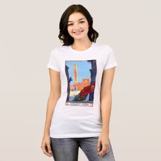 Italy Siena Vintage Travel Poster Restored T-Shirt