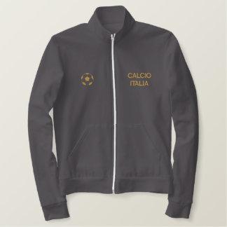 Italy Soccer Calcio Forza Azzurri Flag Map Embroidered Jacket