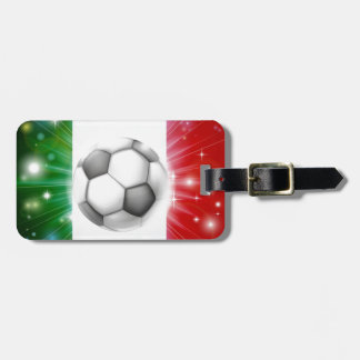 Italy soccer flag luggage tag