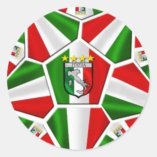 Italy Soccer Round Sticker