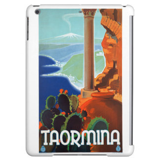 Italy Taormina Sicily Vintage Poster Case For iPad Air