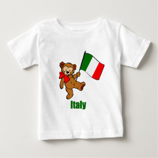 Italy Teddy Bear Baby T-Shirt
