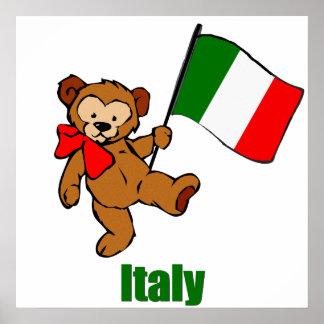 Italy Teddy Bear  Poster