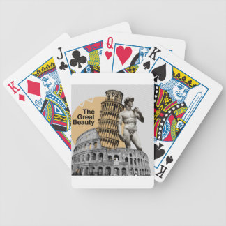 Italy, The Great Beauty Bicycle Playing Cards