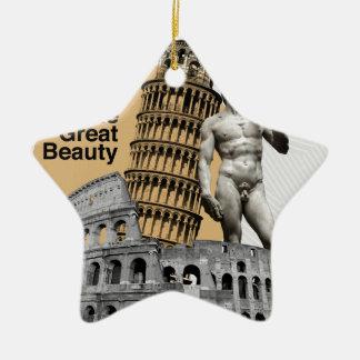 Italy, The Great Beauty Ceramic Ornament