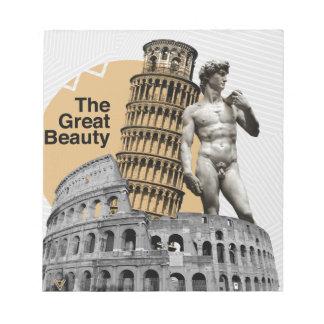 Italy, The Great Beauty Notepad