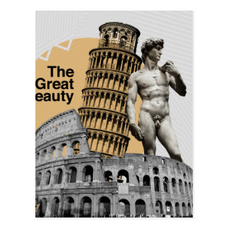 Italy, The Great Beauty Postcard