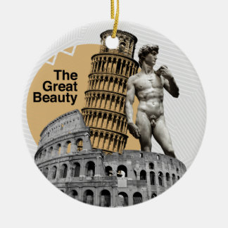 Italy, The Great Beauty Round Ceramic Ornament