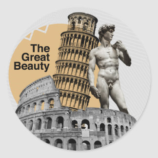 Italy, The Great Beauty Round Sticker