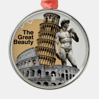 Italy, The Great Beauty Silver-Colored Round Ornament