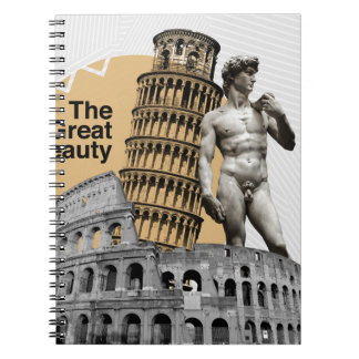 Italy, The Great Beauty Spiral Notebook