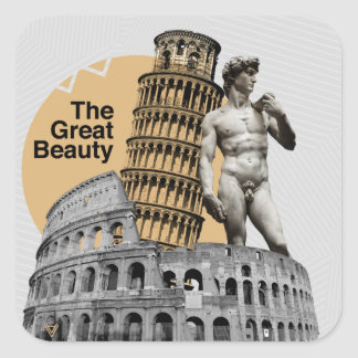 Italy, The Great Beauty Square Sticker