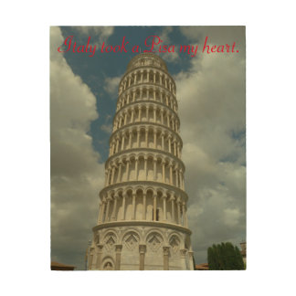 Italy took a Pisa my heart Wood Prints