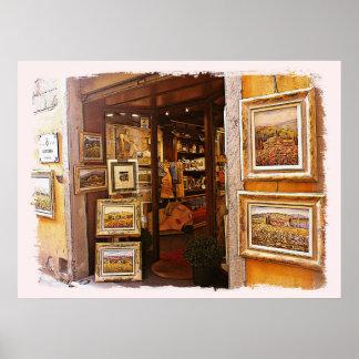 Italy.Tuscany. Art-gallery  in Cortona. Poster